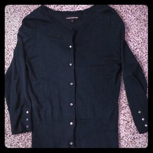 Dark forest green sweater w/ shiny buttons